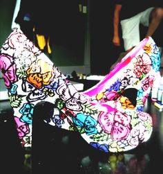 Periodic table of elements lo top sneaker 67 geek chic i hand painted these pansy shoes urtaz Gallery