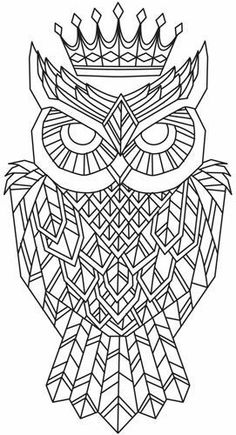 Regal Owl Unique And Awesome Embroidery Designs