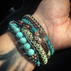 Heading into work and rocking my 5 wrap bracelet! (It's my fave)  by boho.berry
