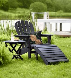 Our upgraded Adirondack Outdoor Chair is made for relaxing. The chair's updated design features: a rich, multi-step finish for added style and durabili… Popsicle Stick Christmas Crafts, Christmas Crafts For Toddlers, Outdoor Wood Furniture, Outdoor Chairs, Outdoor Decor, Outdoor Living, Christmas Art Projects, Christmas Deco, Christmas Gifts