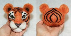 Master class...the tiger's face on a ball