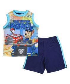 Look at this Navy PAW Patrol Tank & Shorts - Toddler & Boys on #zulily today!