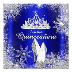 Shop Royal Blue Quinceanera Silver Tiara Birthday Invitation created by Zizzago. Personalize it with photos & text or purchase as is! Blue Birthday Parties, Elegant Birthday Party, 15th Birthday, Birthday Dresses, Birthday Fun, Quince Invitations, Birthday Party Invitations, Wedding Invitations, Personalized Invitations