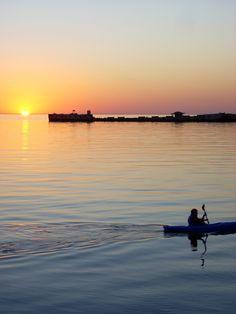 Kayaking at sunset - #kayak #kayaking #sunset