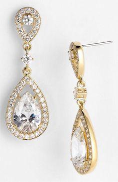 Nadri jewelry is stunning! I'm a sucker for beautiful, pear shaped earrings.