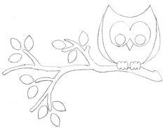molde coruja patchcolagem - Pesquisa Google