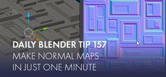 Daily Blender Tip How to bake normal maps in just one minute! Normal Map, Blender Tutorial, 3d Software, Modeling Tips, 3d Tutorial, Game Dev, Cg Art, Gurren Lagann, Blender 3d