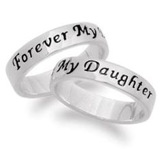 Sterling Silver Daughter Sentiment Ring