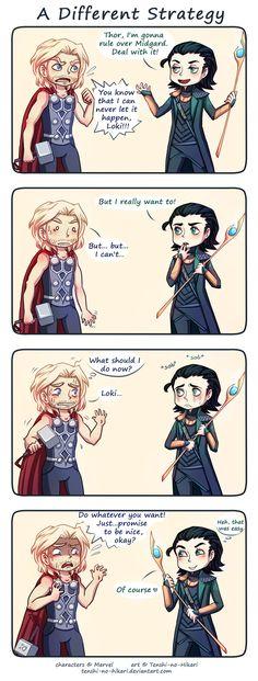 Awwwwww! Loki's face in panel 3. Go do whatever you want, Loki, it's okay. *gives hug*