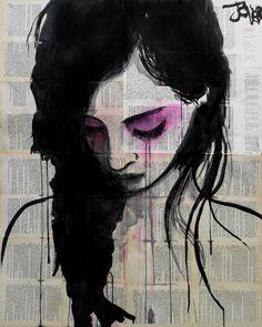 "Loui Jover; Chalk 2013 Drawing ""cherry"""