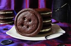Oreo Button Cookies - for We Should Cocoa Perfect for a Coraline or sewing themed party!