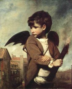 In our picture Sir Joshua Reynolds, the painter has represented the little torch-bearing god disguised as a link boy. He is dressed in the clothes of a London street urchin, and behind him are the warehouses of the great city. We may now understand what a capital chance for fun Cupid would have, playing the part of a link boy. The strangers whom he guided on their way would little suspect that the link boy's torch was kindling the flame of love within them. He might lead them whither he…
