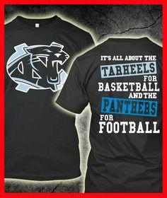 Home Team #Tarheels #Panthers
