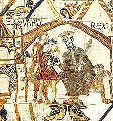 Edward the Confessor from the Bayeux Tapestry.  Someday, I promise myself that I will see this in person.