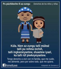 Derechos  del  niño en  lengua  mapudungun