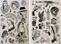 HERMANOS DEL COLOR: Mike Giant - AMERICANA tattoo flash Vol. 2