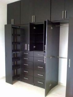 Fotografía de Closets color chocolate por Carpinteria Residencial #21179. closets para recamaras en color chocolate