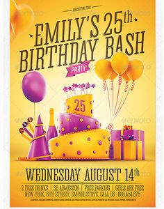 26 best birthday party flyer template images party flyer birthday