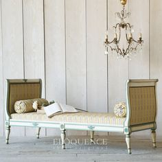 Offering a variety of French farmhouse, romantic chic inspired vintage and family room furniture that is stylish, functional and will compliment your home decor. Vintage Sofa, Vintage Furniture, Cool Furniture, Family Room Furniture, Bedroom Furniture, Paris Apartment Decor, French Daybed, French Country Bedding, Sofa Shop