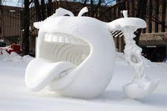 Amazing Snow Sculpture - The Quebec Winter Carnival, Nice n Funny Winter Wonder, Winter Fun, Winter Time, Snow And Ice, Fire And Ice, Snow Sculptures, Sculpture Art, Metal Sculptures, Abstract Sculpture