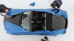 """Car vinyl wrap timelapse - """"Don't paint it.  Wrap it with Avery Dennison's Supreme Wrapping Film!"""""""