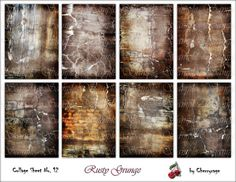 Chalkboard editable return address labels fits avery template rusty grunge digital collage sheet atc aceo card by cherryrage 350 pronofoot35fo Images