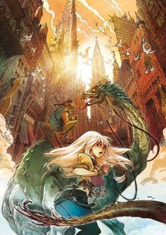 Alessandro Barbucci girl and dragon rider... aside from the fact that all the girls looks sexual I really like this artist's work