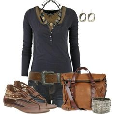 Love everything except the jewelry... this outfit will work best on beads or leather accessories
