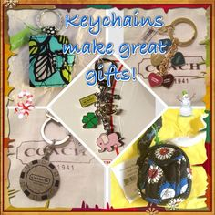 Assorted NWT keychains!! Coach and Vera Bradley Keychains always make great little gifts and stocking stuffers! These are all individually listed in my closet, or you can ask me any questions about a particular one  on this listing :) Coach Accessories