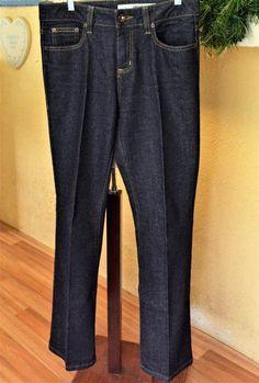 DKNY Jeans 6R Regular Soho Jeans Blue Dark Wash Mid Rise Bootcut Stretch #DKNY #BootCut
