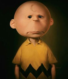 Charlie Brown - 10 Realistic Drawings of Animated Characters. Now THAT is some creepy sh*t! Cartoon Kunst, Cartoon Art, Cartoon Characters, Cartoon Images, Fictional Characters, Realistic Cartoons, Realistic Drawings, Futurama, Chuck Brown