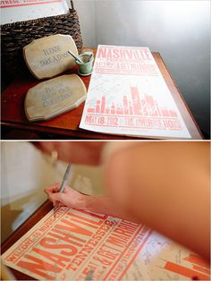 Custom concert flyer inspired wedding poster as alternative guestbook and wedding favor-- THIS WILL BE WHAT I DO!