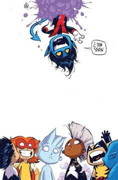 Amazing X-Men by Skottie Young, I'm so happy the fuzzy blue elf is back!
