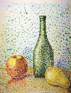 Images For > Pointillism Butterfly Art Texture, Middle School Art Projects, Stippling Art, Easy Canvas Art, Dot Art Painting, Art Classroom, Art Plastique, Teaching Art, Elements Of Art