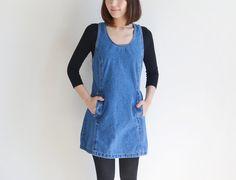 811917b5ac Vintage JORDACHE blue denim jumper dress