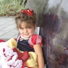 My little girl as Snow white at disney world!