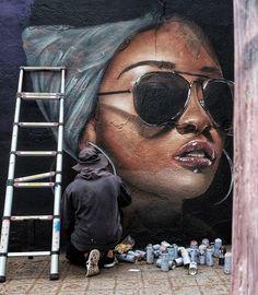: Photo Chalk Art Chalk art mural Photo world Grafitti Street, Street Art Banksy, Murals Street Art, 3d Street Art, Mural Art, Street Artists, Graffiti Girl, Graffiti Murals, Graffiti Artists