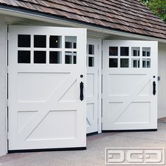 Photo of Dynamic Garage Door - Santa Ana, CA, United States. Convert your garage with Dynamic's Real Swinging carriage doors designed to your specificastions Garage Doors Prices, Custom Garage Doors, Modern Garage Doors, Garage Door Styles, Wood Garage Doors, Garage Door Design, Barn Doors, Garage Flooring, Carriage House Garage Doors