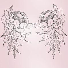 Pink, so that the boys wink Artist: Andrea Roberts Boy Tattoos, Cute Tattoos, Badass Tattoos, Tattoo Flash Sheet, Tattoo Flash Art, Flower Tattoo Designs, Flower Tattoos, Inner Bicep Tattoo, Girl Power Tattoo