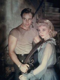 Vivien Leigh and Marlon Brando in a publicity photo for A Streetcar Named Desire.