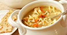 Scrumptious and easy to prepare Chicken Noodle Soup recipe. Tips for making perfect Chicken Noodle Soup are included, along with make ahead instructions! Soup Recipes, Chicken Recipes, Cooking Recipes, Healthy Recipes, Recipe Chicken, Diet Recipes, Healthy Soup, Healthy Foods, Cooking Bacon