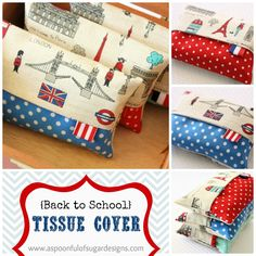 {Back to School} Tissue Cover | A Spoonful of Sugar -- a nice use for vintage hankies