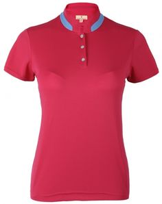 Check out what #lorisgolfshoppe has for your days on and off the golf course: REFLECTION (Pink Diamond) Sport Haley Ladies Crystal Short Sleeve Solid Golf Shirt