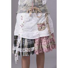 Jupe courte blanche Ian Mosh - L'Amazone-store.com
