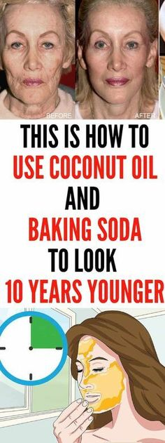 Let Start Slim Today: This Is How To Use Coconut Oil And Baking Soda To look 10 . Let Start Slim Today: This Is How To Use Coconut Oil And Baking Soda To look 10 years younger Natural Facial Cleanser, Natural Face, Natural Beauty, Natural Makeup, Homemade Face Cleanser, Organic Beauty, Health Tips For Women, Health And Beauty, Beauty Care