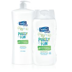 Suave Kids Purely Fun 2-in-1 Shampoo & Conditioner. No parabens or dyes.