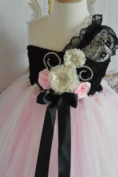 Vintage Parisian Flower girl tutu dress by TutuSweetBoutiqueINC, $70.00