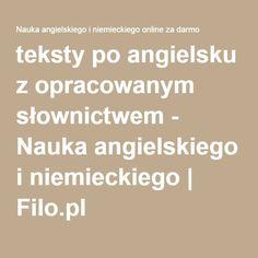teksty po angielsku z opracowanym słownictwem - Nauka angielskiego i niemieckiego | Filo.pl