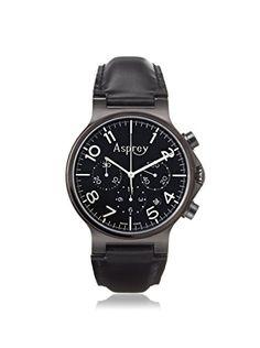 Asprey of London Men's 1019982 Black/Stainless Steel Watch