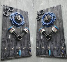 Discover recipes, home ideas, style inspiration and other ideas to try. Garage Furniture, Car Part Furniture, Automotive Furniture, Automotive Decor, Metal Furniture, Car Part Art, Car Parts Decor, Steampunk Furniture, Metal Art Projects